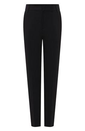 Женские шерстяные брюки BRUNELLO CUCINELLI черного цвета, арт. M0W07P7803 | Фото 1 (Материал внешний: Шерсть; Длина (брюки, джинсы): Стандартные; Силуэт Ж (брюки и джинсы): Узкие; Случай: Формальный; Женское Кросс-КТ: Брюки-одежда; Стили: Классический)