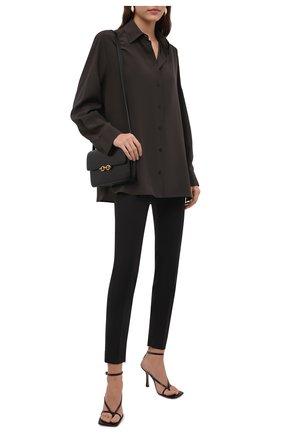 Женские шерстяные брюки BRUNELLO CUCINELLI черного цвета, арт. M0W07P7803 | Фото 2 (Материал внешний: Шерсть; Длина (брюки, джинсы): Стандартные; Силуэт Ж (брюки и джинсы): Узкие; Случай: Формальный; Женское Кросс-КТ: Брюки-одежда; Стили: Классический)
