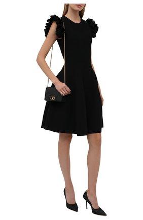 Женские текстильные туфли love 100 JIMMY CHOO черного цвета, арт. L0VE 100/ZYD | Фото 2