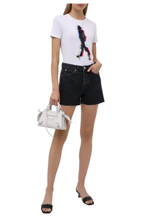 Женская хлопковая футболка EMPORIO ARMANI белого цвета, арт. 6K2T6E/2JQAZ   Фото 2