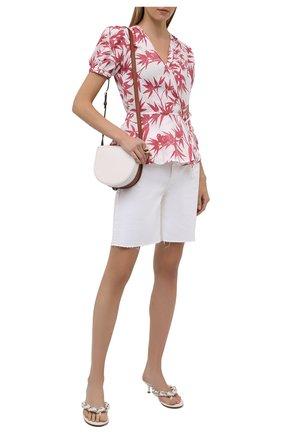 Женская льняная блузка POLO RALPH LAUREN розового цвета, арт. 211838913   Фото 2 (Длина (для топов): Стандартные; Материал внешний: Лен; Женское Кросс-КТ: Блуза-одежда; Рукава: Короткие; Стили: Романтичный; Принт: С принтом)