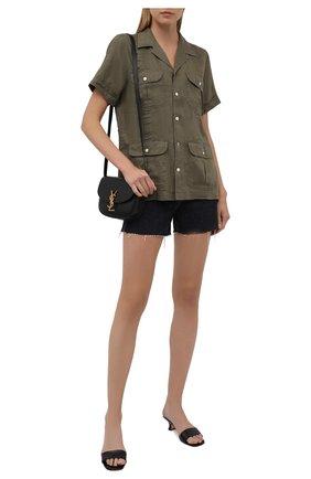 Женская льняная рубашка POLO RALPH LAUREN хаки цвета, арт. 211838912 | Фото 2 (Длина (для топов): Стандартные; Рукава: Короткие; Материал внешний: Лен; Женское Кросс-КТ: Рубашка-одежда; Принт: Без принта; Стили: Милитари)