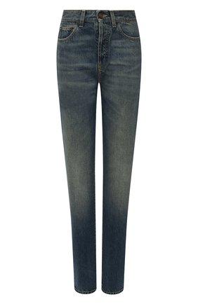 Женские джинсы SAINT LAURENT синего цвета, арт. 614443/Y30AC | Фото 1