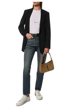 Женские джинсы SAINT LAURENT синего цвета, арт. 614443/Y30AC   Фото 2