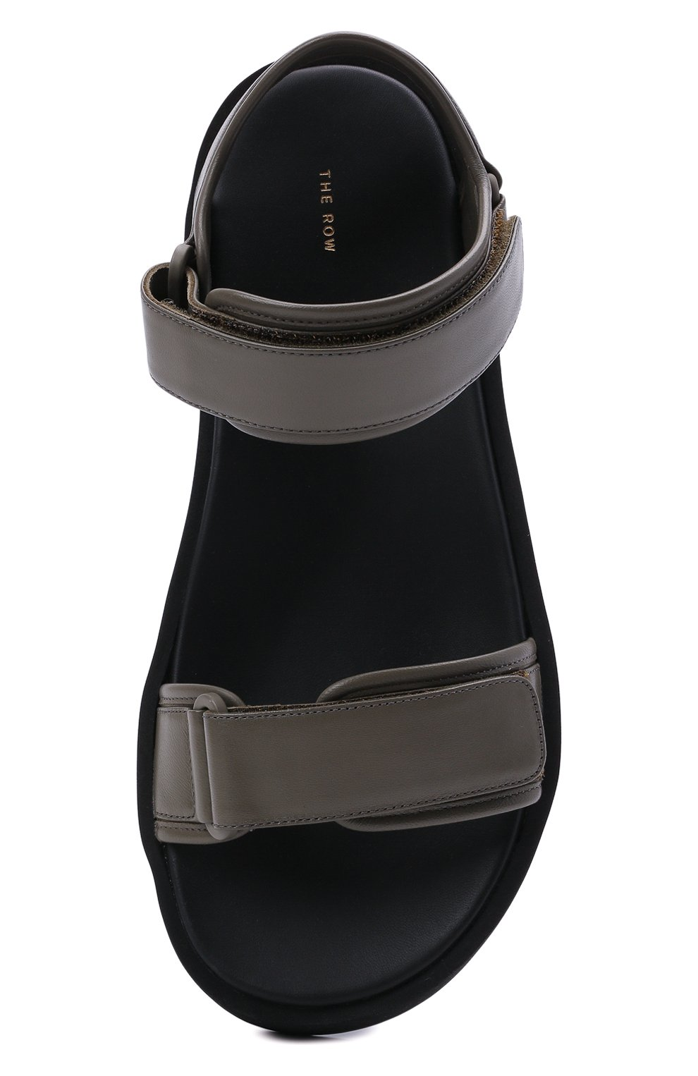 Женские кожаные сандалии THE ROW хаки цвета, арт. F1206-N60 | Фото 5