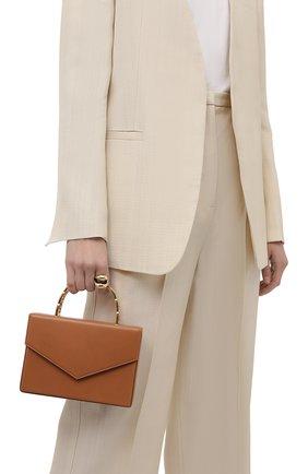 Женская сумка AMINA MUADDI светло-коричневого цвета, арт. AMINI PERNILLE/CALF | Фото 2