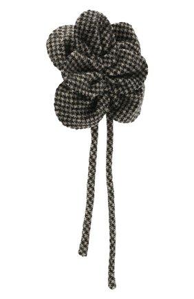 Женская брошь GIORGIO ARMANI черно-белого цвета, арт. 61M441/1A041   Фото 2
