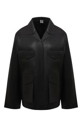 Женская кожаная куртка TOTÊME черного цвета, арт. 213-108-737 | Фото 1