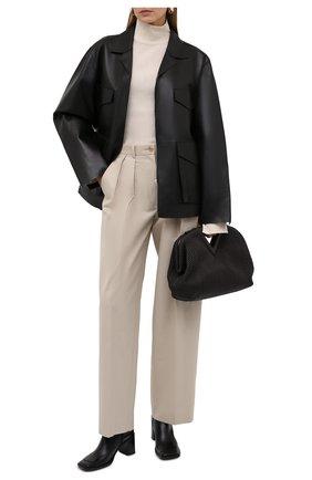 Женская кожаная куртка TOTÊME черного цвета, арт. 213-108-737 | Фото 2
