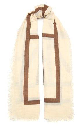 Женская хлопковая шаль TOTÊME бежевого цвета, арт. 213-891-803 | Фото 1