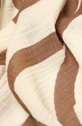 Женская хлопковая шаль TOTÊME бежевого цвета, арт. 213-891-803 | Фото 2