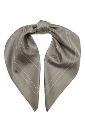 Женский шелковый платок TOTÊME серого цвета, арт. 213-873-803 | Фото 1