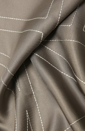 Женский шелковый платок TOTÊME серого цвета, арт. 213-873-803 | Фото 2