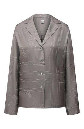 Женская шелковая рубашка TOTÊME серого цвета, арт. 213-755-707 | Фото 1