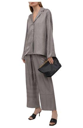 Женская шелковая рубашка TOTÊME серого цвета, арт. 213-755-707 | Фото 2
