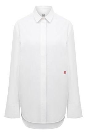 Женская хлопковая рубашка TOTÊME белого цвета, арт. 213-729-710 | Фото 1