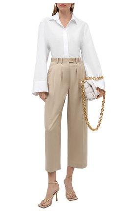 Женская хлопковая рубашка TOTÊME белого цвета, арт. 213-729-710 | Фото 2
