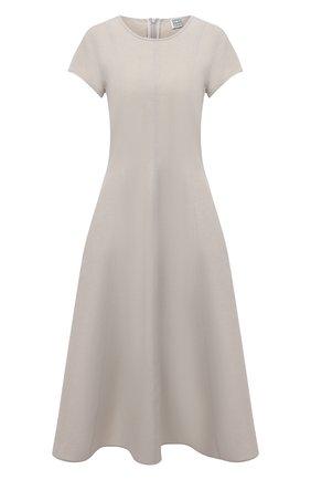 Платье изо льна и вискозы | Фото №1