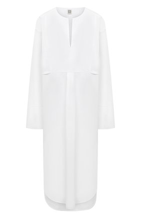 Женское хлопковое платье TOTÊME белого цвета, арт. 213-614-710 | Фото 1