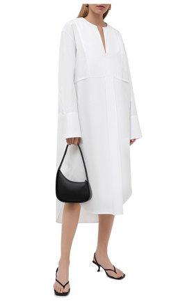 Женское хлопковое платье TOTÊME белого цвета, арт. 213-614-710 | Фото 2