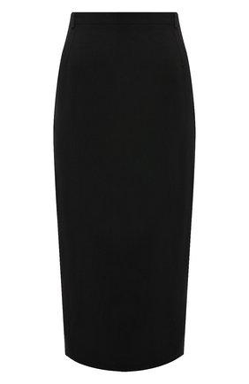 Женская юбка из вискозы TOTÊME черного цвета, арт. 213-311-703 | Фото 1