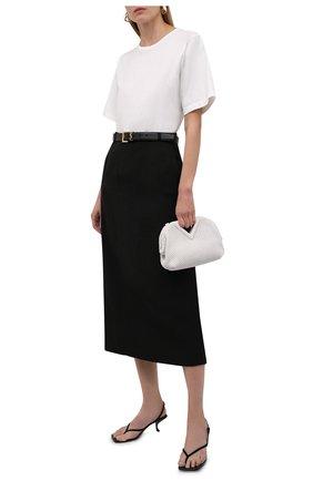 Женская юбка из вискозы TOTÊME черного цвета, арт. 213-311-703 | Фото 2