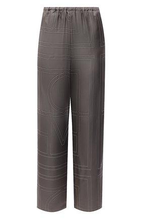 Женские шелковые брюки TOTÊME серого цвета, арт. 213-255-707 | Фото 1