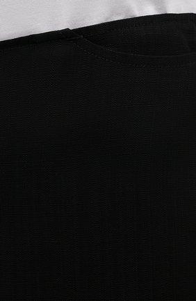 Женские шорты из вискозы TOTÊME черного цвета, арт. 213-219-709   Фото 5 (Женское Кросс-КТ: Шорты-одежда; Длина Ж (юбки, платья, шорты): Миди; Материал внешний: Вискоза; Стили: Кэжуэл)