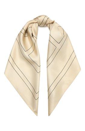 Женский шелковый платок TOTÊME светло-бежевого цвета, арт. 212-873-803 | Фото 1
