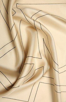 Женский шелковый платок TOTÊME светло-бежевого цвета, арт. 212-873-803 | Фото 2