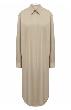 Женское хлопковое платье THE ROW бежевого цвета, арт. 5622W2039 | Фото 1