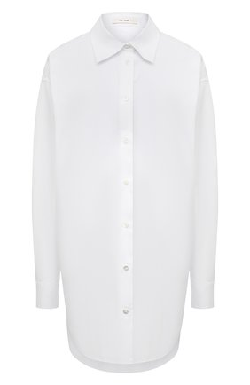 Женская хлопковая рубашка THE ROW белого цвета, арт. 5648W2043 | Фото 1