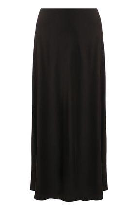 Женская шелковая юбка THE ROW хаки цвета, арт. 5658W1099 | Фото 1