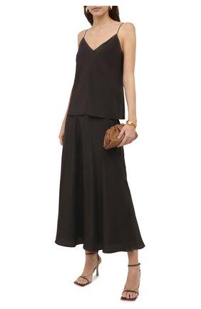 Женская шелковая юбка THE ROW хаки цвета, арт. 5658W1099 | Фото 2