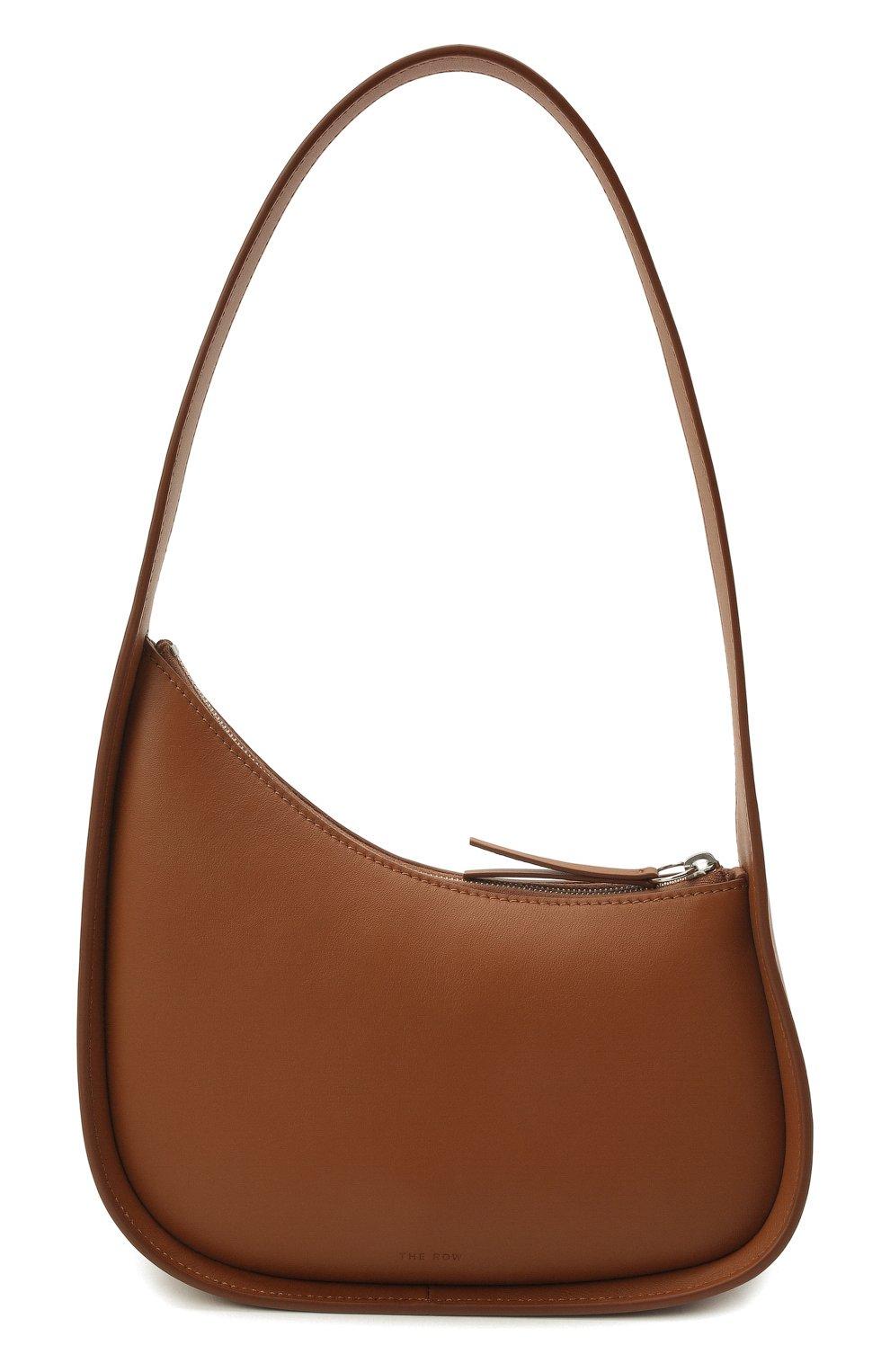 Женская сумка half moon THE ROW коричневого цвета, арт. W1249L52   Фото 1 (Сумки-технические: Сумки top-handle; Материал: Натуральная кожа; Размер: mini)