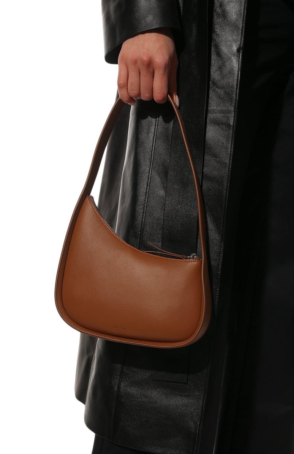 Женская сумка half moon THE ROW коричневого цвета, арт. W1249L52   Фото 2 (Сумки-технические: Сумки top-handle; Материал: Натуральная кожа; Размер: mini)