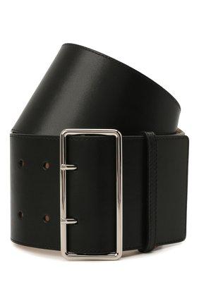 Женский кожаный ремень ALEXANDER MCQUEEN черного цвета, арт. 558452/1BR0I | Фото 1