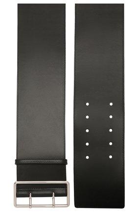 Женский кожаный ремень ALEXANDER MCQUEEN черного цвета, арт. 558452/1BR0I | Фото 2