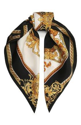 Женский шелковый платок VERSACE разноцветного цвета, арт. 1001601/1A00735 | Фото 1