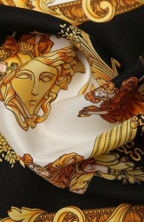 Женский шелковый платок VERSACE разноцветного цвета, арт. 1001601/1A00735 | Фото 2