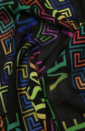 Женская шерстяная шаль VERSACE разноцветного цвета, арт. 1001599/1A01231 | Фото 2