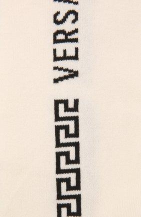 Женские хлопковые гольфы VERSACE кремвого цвета, арт. 1001544/1A01192 | Фото 2