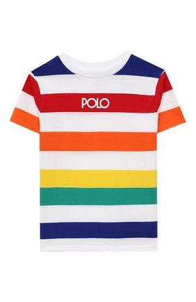 Детская хлопковая футболка POLO RALPH LAUREN разноцветного цвета, арт. 322844644 | Фото 1