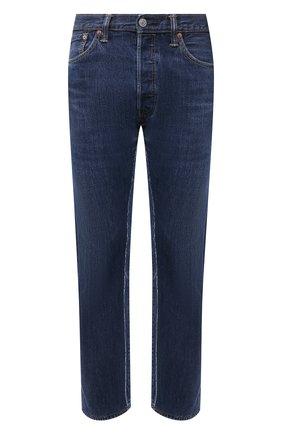 Мужские джинсы BALENCIAGA синего цвета, арт. 657611/TJW68 | Фото 1 (Длина (брюки, джинсы): Стандартные; Материал внешний: Хлопок; Силуэт М (брюки): Прямые; Кросс-КТ: Деним; Стили: Гранж)