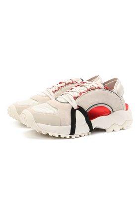 Женские комбинированные сандалии Y-3 бежевого цвета, арт. FZ4509/W | Фото 1