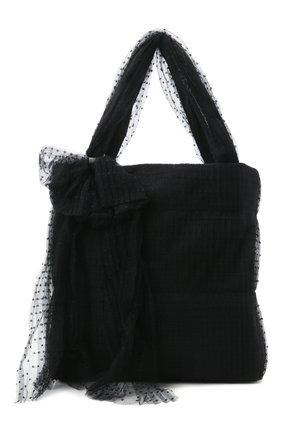 Женский сумка-шопер REDVALENTINO черного цвета, арт. WQ2B0C92/GNL | Фото 1 (Размер: large; Сумки-технические: Сумки-шопперы)