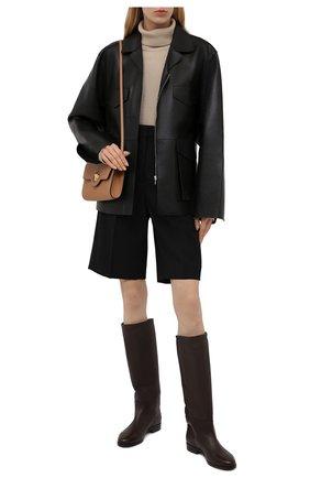 Женские кожаные сапоги KITON коричневого цвета, арт. D52801X04R81 | Фото 2 (Высота голенища: Средние; Материал внутренний: Натуральная кожа; Подошва: Плоская; Каблук высота: Низкий; Каблук тип: Устойчивый)
