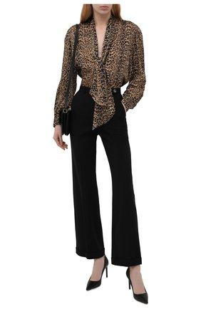 Женские шерстяные брюки GIORGIO ARMANI черного цвета, арт. 1WHPP0IN/T01QW   Фото 2