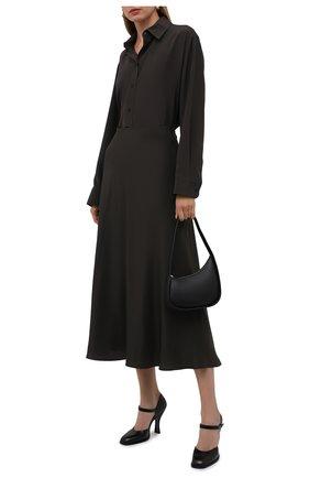 Женские кожаные туфли mary jane THE ROW черного цвета, арт. F1195-L35 | Фото 2