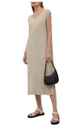 Женские кожаные сандалии THE ROW кремвого цвета, арт. F1206-N60 | Фото 2 (Подошва: Платформа; Материал внутренний: Натуральная кожа)